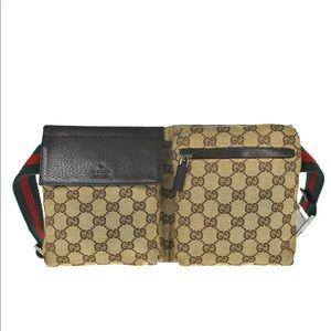 Authentic Gucci waist bag fanny Pack Belt bag